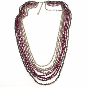 Nakamol Multi Strand Crystal Beaded Layer Necklace